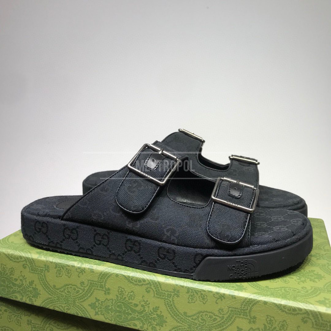 GUCCI (ГУЧЧИ) Мужские шлепанцы GG Multicolor